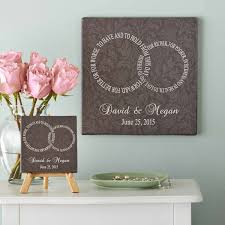 personlized wedding gifts personalized wedding rings canvas walmart