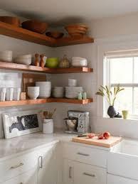 kitchen diy open shelf kitchen corner kitchen cabinet end shelf