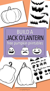 Printable Halloween Cards To Color by Build A Jack O Lantern With Fun Free Pumpkin Printables