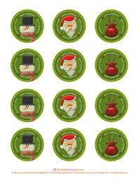christmas picks free printable christmas cupcake picks printable party kits