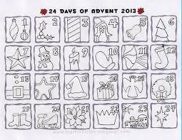 advent calendar colour calendar template 2017
