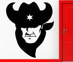 aliexpress com buy texas cowboy head silhouette wall mural art