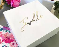 personalized boxes gift box etsy