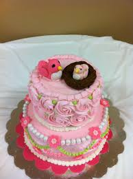 gingerly created confections mama and baby bird baby shower cake