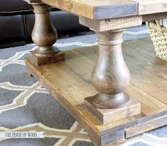 chunky farmhouse table legs ana white balustrade coffee table diy projects