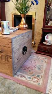wooden chest trunk blanket box coffee table vintage style tv stand