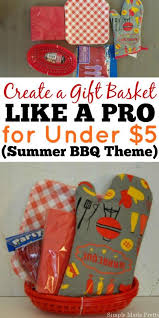 Bbq Gift Basket Diy Dollar Store Bbq Themed Gift Basket Simple Made Pretty