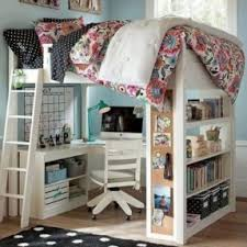 White Wood Loft Bed With Desk Foter - White bunk beds with desk