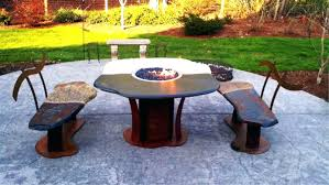 Gas Fire Pit Table Sets - fire pit dining table u2013 mitventures co