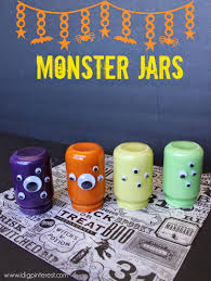 googly eye monster jars halloween craft i dig pinterest