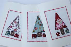 embroidered christmas sewn christmas cards christmas lights decoration