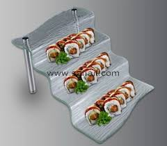 3 tiers acrylic food display stand for buffet banquet sfd 049