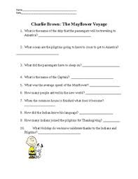 charlie brown the mayflower voyage video questions by samantha norman