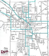 Green Lake Wisconsin Map by Road Routes City Of Ripon Green Lake Greenways