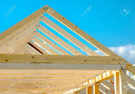 Frame A House by Rafters Of The Roof Frame Of A House Under Construction Stock