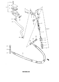 1986 suzuki lt250r quad racer rear master cylinder model g parts