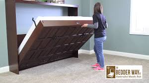 how to open a horizontal murphy bed from bedder way murphy beds