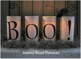 Simple Scary Halloween Candles Free Printables