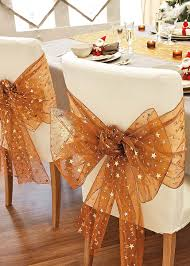 bows for chairs chair christmas decor ideas furnish burnish
