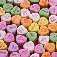 heart candies you those chalky hearts that say things like