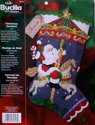 bucilla christmas christmas carousel 18 bucilla felt christmas kit 85316