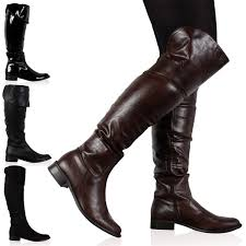 womens boots zip up details about dd16 womens zip up winter the knee high