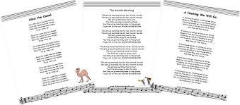 children s songs printable lyrics and