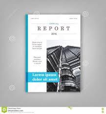 blue annual report leaflet brochure template a4 size design