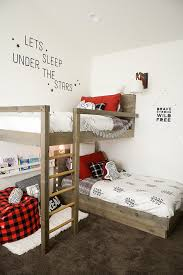 Make Your Own Wooden Bunk Bed by How To Design And Build The Lumberjack Bedroom Bunk Beds Free