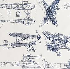 Airplane Bedding Sets by Vintage Airplane Blueprint Sheet Set