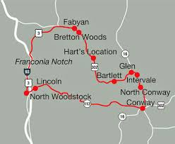 Scenic Route Map by A Recommended Drive New Hampshire