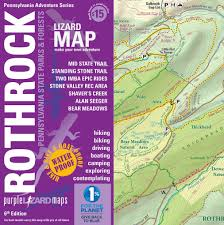 New York Appalachian Trail Map by Rothrock Lizard Map Purple Lizard Maps
