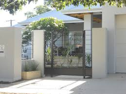 fascinate modern fence design noticeable idea using white exterior