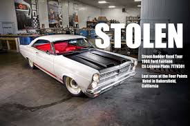 1966 ford fairlane 2016 arp street rodder road tour car stolen in
