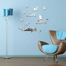 diy mirror stickers butterfly live love laugh wall sticker home diy mirror stickers butterfly live love laugh wall sticker home decor art wall decal for kids