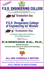 Invitation Card For Graduation Day Psr Engineering College Sivakasi Home