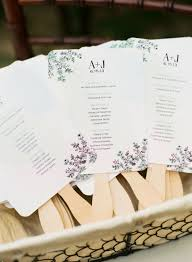 cool wedding programs lovely ideas for an unforgettable summer wedding chic vintage brides