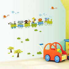 Removable Nursery Wall Decals New Removable Sticker Animal Roller Style Wall Stickers For