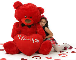 valentines day teddy 52in s day teddy with plush i you