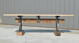 Industrial Bar Table Post Beam Rustic Industrial Bar Height Table The Industrial