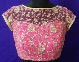pattern of net blouse net blouse to give trendy classic and fashionable look to silk