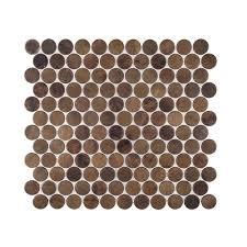 jeffrey court copper pennies 10 in x 10 3 4 in x 8 mm metal