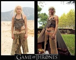 Game Thrones Halloween Costumes Khaleesi Daenerys Targaryen Cosplay Dothraki Dress Game Entrophya