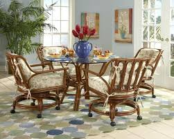 dining chairs rolling dining room chairs upholstered with arms