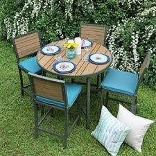 High Patio Dining Set Ae Outdoor All Weather Woodbridge High Dining Set With