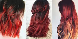 red ombre hairstyles red ombre hair color ideas man women