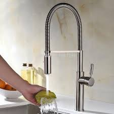 Touch Free Kitchen Faucet High Arch Touch On Pull Out Pull Down Sprayer Spring Kitchen Sink