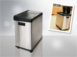 furniture elegant dual compartment trash cans recycle push on