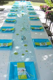 deco de table pour anniversaire table de baptême cuir loisirs créatifs scrap carterie custo