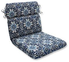 woodblock prism blue rounded corners chair cushion mediterranean